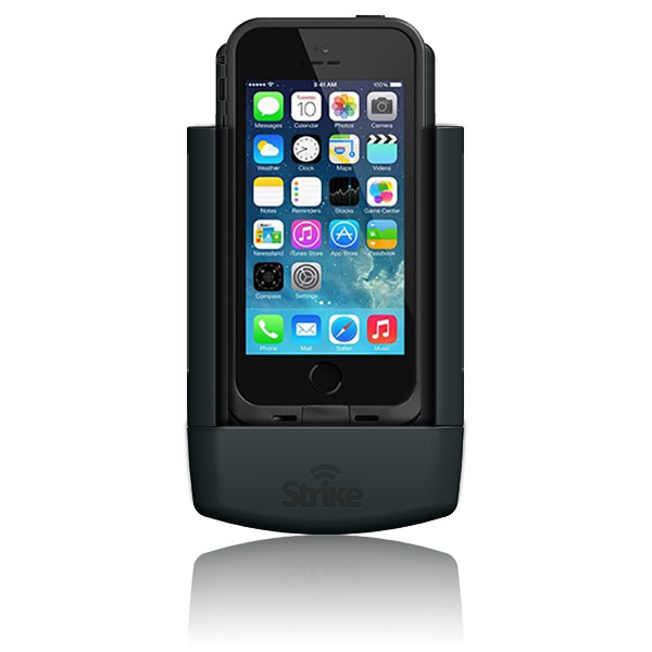 Strike Alpha Apple iPhone SE Car Cradle with LifeProof Fre Case Bundle