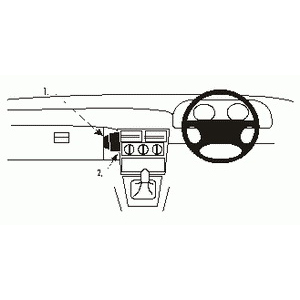 ClicOn No Holes Dash Mount for Daewoo Espero 95-97