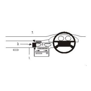 ClicOn No Holes Dash Mount for Mazda 626 92-97