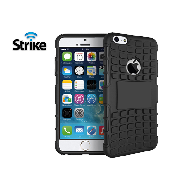 Strike Rugged Case for Apple iPhone 6/6s Plus (Black)