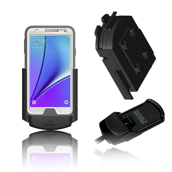 Samsung Galaxy Note 5 Solution for Bury System 9 with Strike Alpha Cradle & Adapter