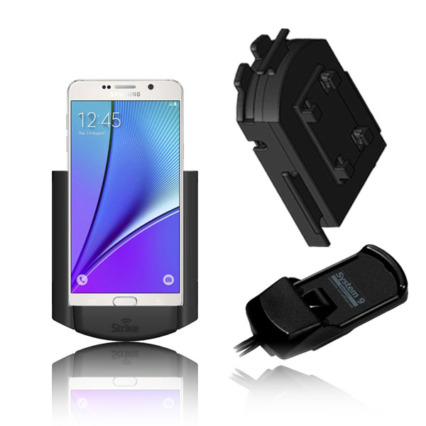 Samsung Galaxy Note 4 Solution for Bury System 9 with Strike Alpha Cradle & Adapter