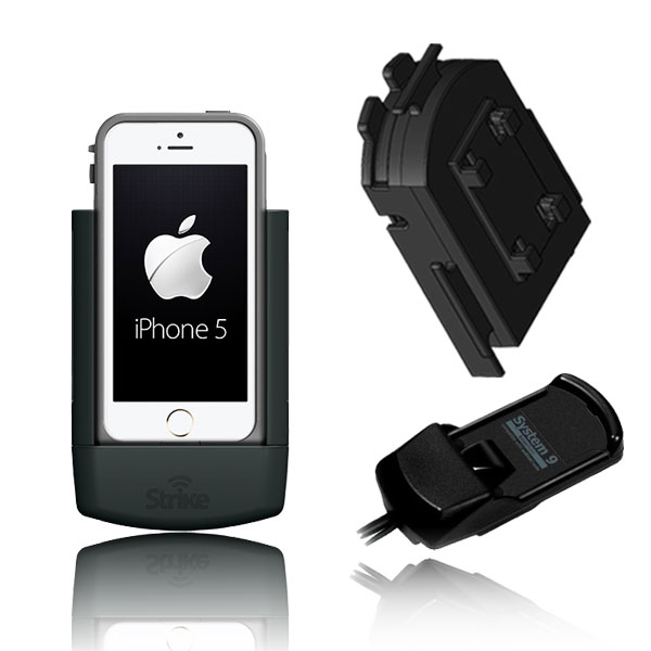 iPhone 5 Solution for Bury System 9 with Strike Alpha Cradle for LifeProof Case & Adapter