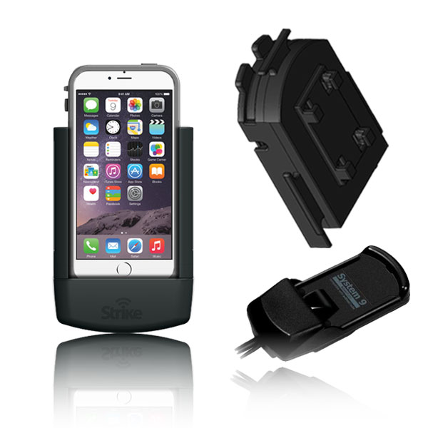 iPhone 6 Plus Solution for Bury System 9 with Strike Alpha Cradle for LifeProof Case & Adapter