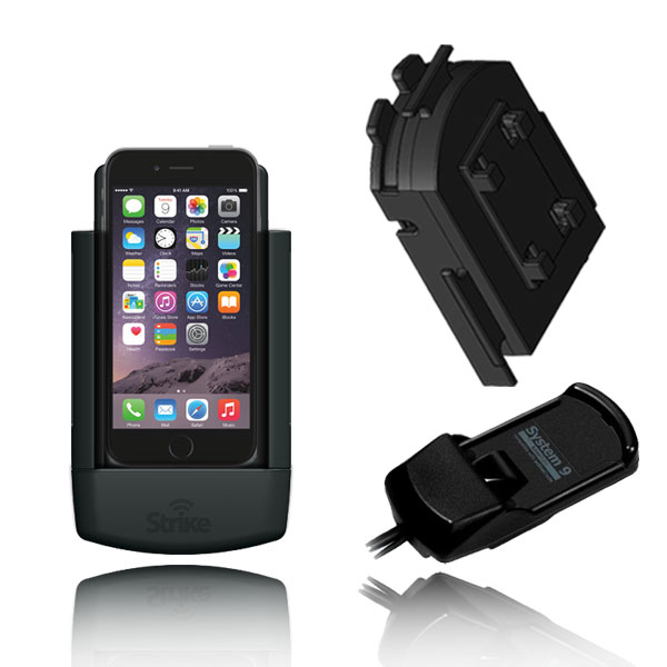 iPhone 6 Solution for Bury System 9 with Strike Alpha Cradle, Strike Case & Adapter