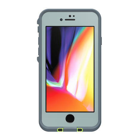 LifeProof Fre Case for Apple iPhone 8 (Abyss/Lime/Stormy Weather)