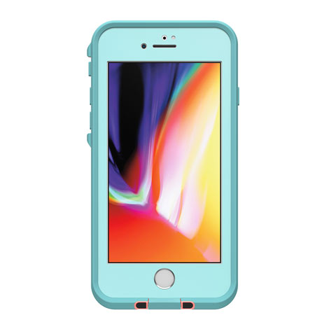 LifeProof Fre Case for Apple iPhone 8 (Blue/Coral/Mandalay Bay)