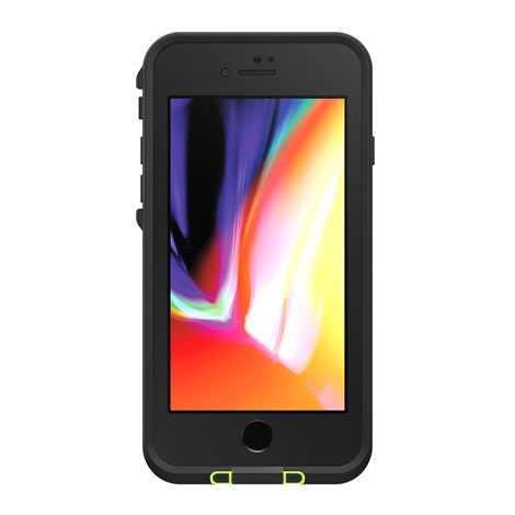 LifeProof Fre Case for Apple iPhone 8 Plus (Black/Lime)