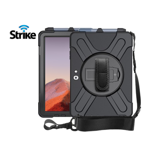 Strike Rugged Case with Hand Strap and Lanyard for Microsoft Surface Pro 7/7+