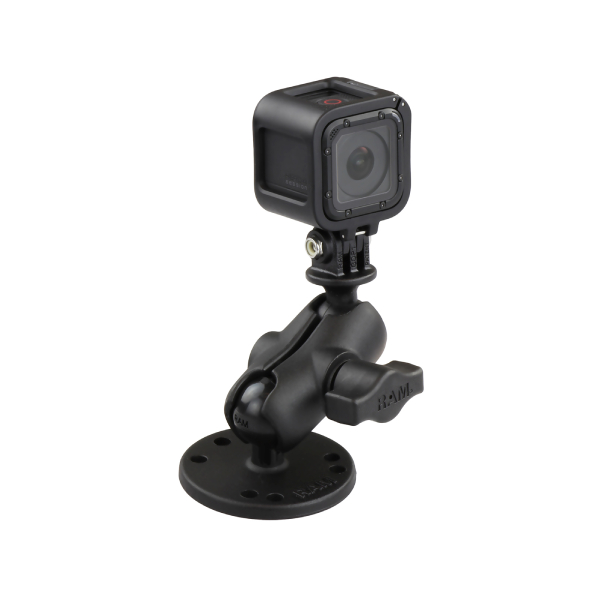 RAM® Drill-Down Double Ball Mount with Universal Action Camera Adapter (RAM-B-138-A-GOP1U)