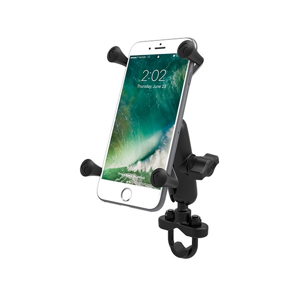 RAM Handlebar U-Bolt Mount with Universal RAM X-Grip Large Phone/Phablet Cradle (RAM-B-149Z-UN10U)