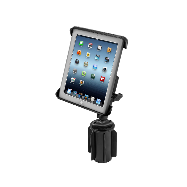 RAM® Tab-Tite™ Holder with RAM-A-CAN™ II Cup Holder Mount for iPad 1-4 (RAP-299-3-C-TAB3U)