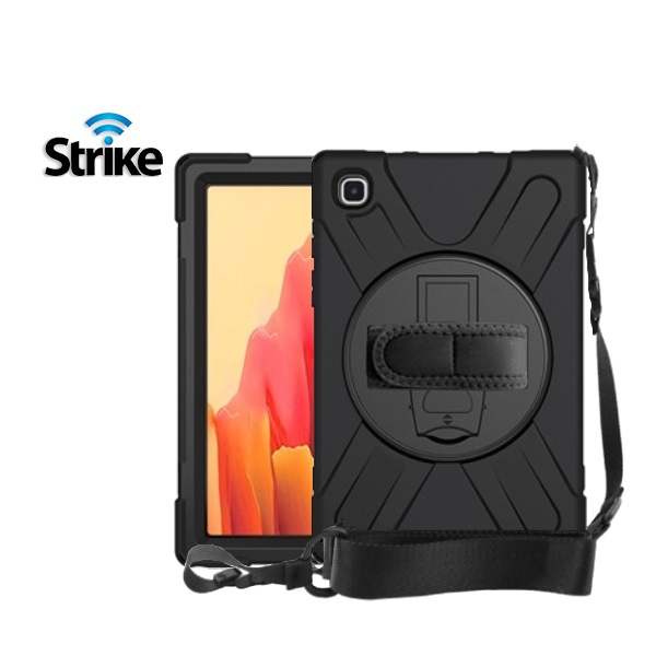 Strike Rugged Case with Hand Strap and Lanyard for Samsung Galaxy Tab A7 10.4