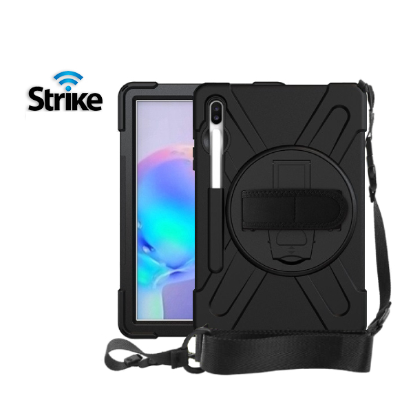 Strike Rugged Case with Hand Strap and Lanyard for Samsung Galaxy Tab S6